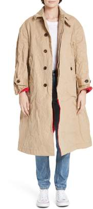 Undercover Wrinkle Effect Cotton Coat