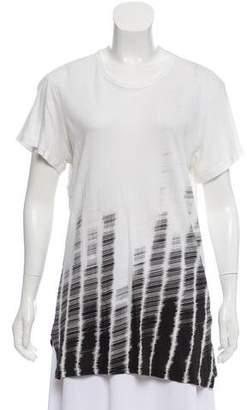Ann Demeulemeester Printed Shorts Sleeve Top
