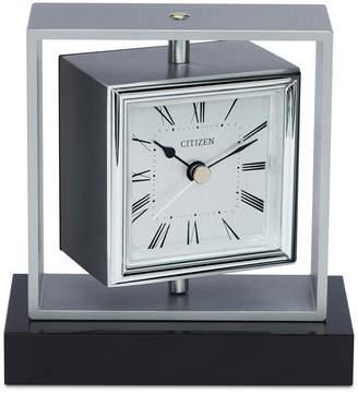 Citizen (シチズン) - Citizen Decorative Accent Silver-Tone & Black Clock