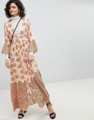 Vero Moda Floral Ruffle Maxi Dress