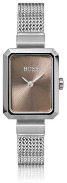 BOSS Hugo Rectangular stainless-steel watch carnation-gold dial One Size Assorted-Pre-Pack