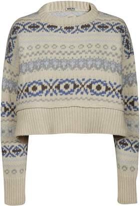 Miu Miu Cropped Tribal Sweater