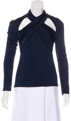 Cushnie et Ochs Crossover Long Sleeve Top w/ Tags