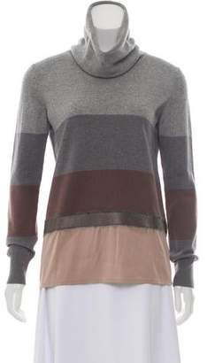 Fabiana Filippi Turtleneck Stripe Sweater