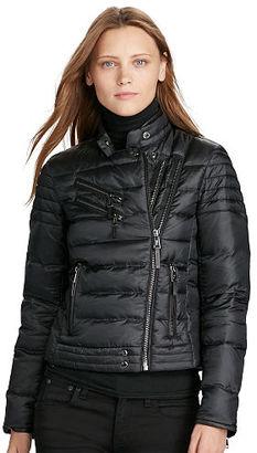Polo Ralph Lauren Down Moto Jacket $398 thestylecure.com