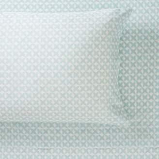 Pottery Barn Teen Organic Reagan Geo Sheet Set, Extra Pillowcases, Set of 2, Faint Blue