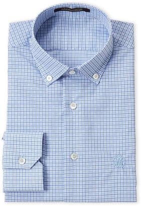 Roberto Cavalli Light Blue Windowpane Dress Shirt