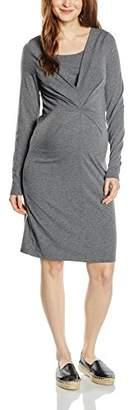 Mama Licious Mamalicious Women's Zelma Plain Long Sleeve Dress,(Manufacturer Size:Medium)