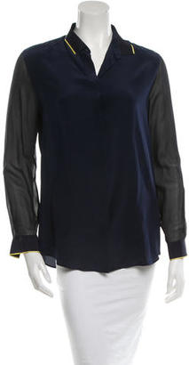 Paul Smith Silk Button-Up Top $65 thestylecure.com