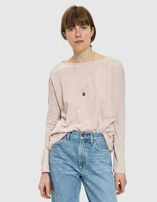 Which We Want Vana Striped Tee in Misty Mauve