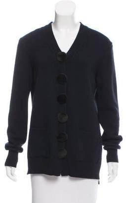 Celine Mink Fur-Trimmed Cashmere Cardigan