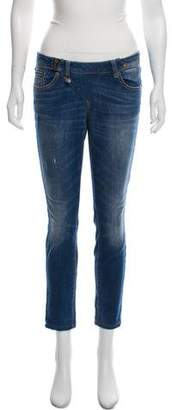 R 13 Low-Rise Cropped Skinny Jeans