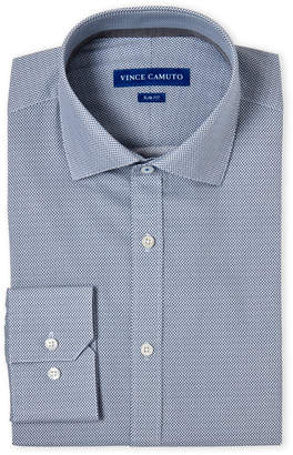 Vince Camuto Diamond Print Comfort Stretch Slim Fit Dress Shirt