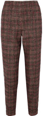 Akris Checked Tweed Straight-leg Pants - Brown