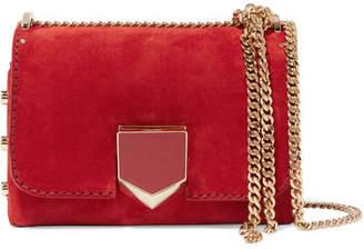 Jimmy Choo Lockett Petite Suede Shoulder Bag - Red