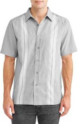 George Men's and Big Men's Short Sleeve Microfiber Shirt, up to size 5XL