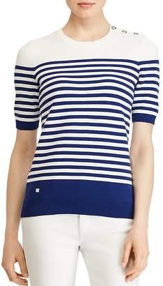 Lauren Ralph Lauren Striped Knit Short-Sleeve Knit Top