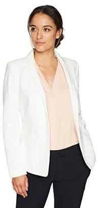 Calvin Klein Women's Petite Size Scuba Open Jacket with Pockets