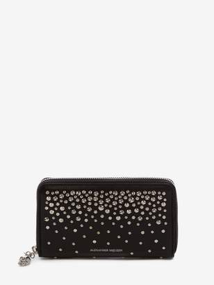 Alexander McQueen Medium Zip-Around Continental Wallet