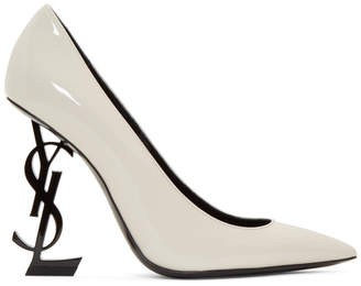 Saint Laurent White Patent Opyum 110 Heels