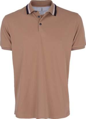 Brunello Cucinelli Double Stripe Collar Polo Shirt