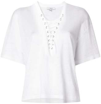 IRO lace-up neck T-shirt