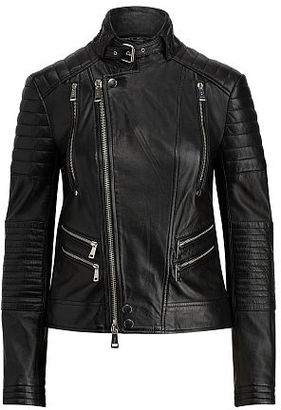 Polo Ralph Lauren Leather Moto Jacket $798 thestylecure.com