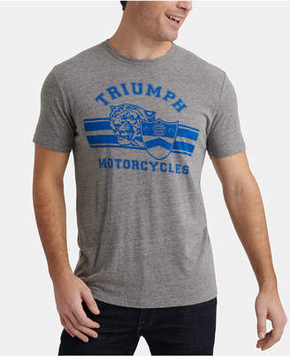 Lucky Brand Men Triumph Motorcycle Tiger Graphic T-Shirt