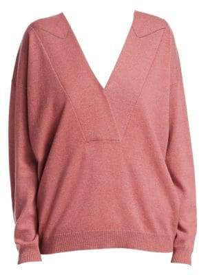 Brunello Cucinelli Two-Ply V-Neck Cashmere Sweater