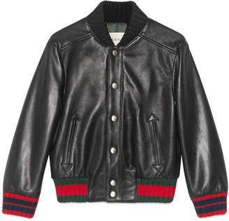 Gucci Children's leather jacket, 4-6 years