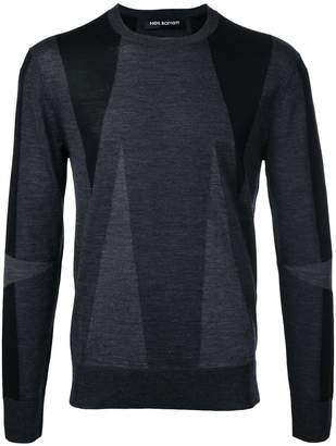 Neil Barrett geometric intarsia jumper