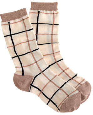 J.Crew Tattersall trouser socks