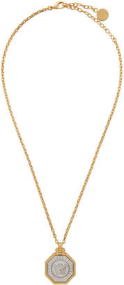 Versace Gold Octogonal Medusa Head Necklace