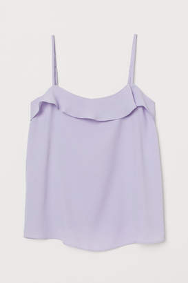 H&M Camisole Top with Flounce - Purple