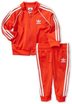 adidas Newborn Boys) Superstar Track Jacket & Pants Set
