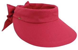 Scala Women's Visor Hat With Big Brim