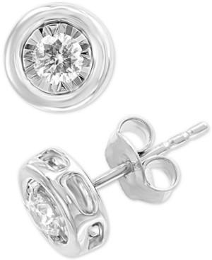 Effy Diamond Bezel Stud Earrings (3/8 ct. t.w.) in 14k White Gold