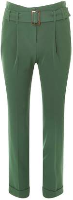 Dorothy Perkins Womens Green Buckle Tapered Trousers
