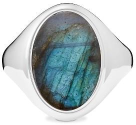 Women's Shinola Statement Labradorite Signet Ring $420 thestylecure.com