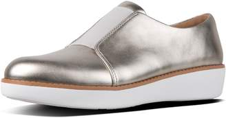 FitFlop Laceless Metallic Leather Derby Shoes