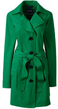 Lands' End Women's Tall Harbor Trench Coat-Meadowland Green $109 thestylecure.com
