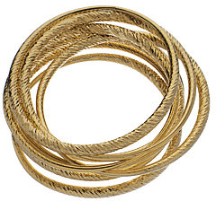 ABS Textured Gold Bangles