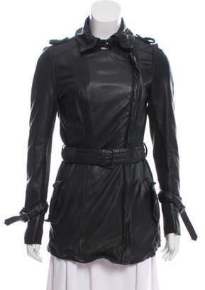 Muu Baa Muubaa Long Leather Moto Jacket