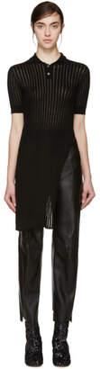Yang Li Black Long Knit Polo