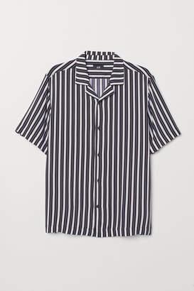 H&M Patterned resort shirt - Blue