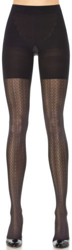Spanx Assets By Spanx, Women's Shapewear, Patterned Tights Vertical Zigzag 2054