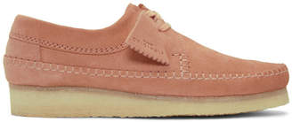 Clarks Pink Suede Weaver Moccassins