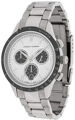 Larsson & Jennings Rally Silver 3Link 38mm watch