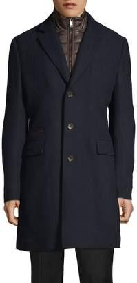 Black Brown 1826 Notch Lapel Wool-Blend Coat