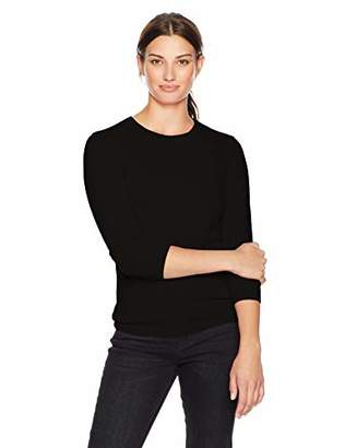 Lark & Ro Women's 100% Cashmere Crewneck Pullover Sweater